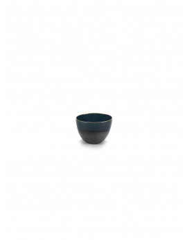 BOWL M BLUE GLAZED RUR:AL