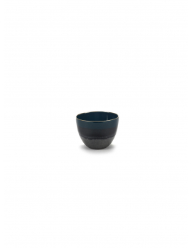 BOWL L BLUE GLAZED RUR:AL