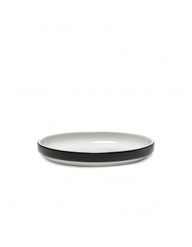 LOW PLATE S BLACK GLAZED PASSE PARTOUT
