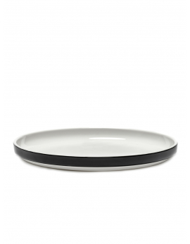 PLATE LOW VVD D26 H2,5 - BLACK GLAZE