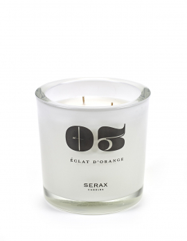 SCENTED CANDLE L N°03 ECLAT D' ORANGE WHITE