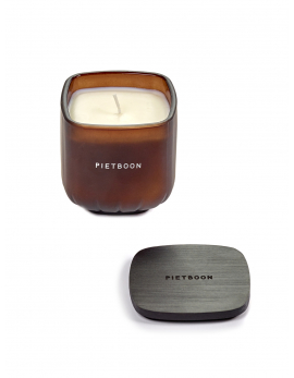 FRAGRANCE CANDLE BROWN 11PM SMALL PB 8X8XH9