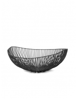 PLATE OVAL BLACK METAL SCULPTURES
