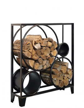 FIREWOOD HOLDER S BLACK