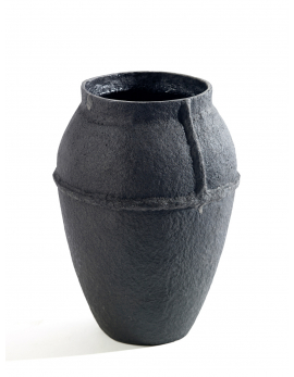VASE M BLACK RECYCLE