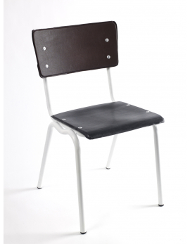 CHAIR VINYL-VINYL 40X49XH80 BROWN/BLACK