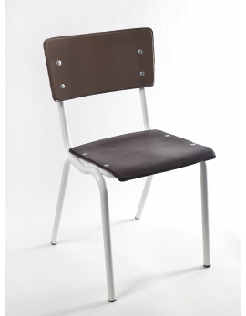CHAIR BROWN VINYL-VINYL