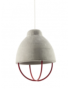 SUSPENSION BETON FER ROUGE
