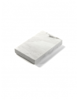 TABLETT S CARRARA MARMOR WEISS TRAYS