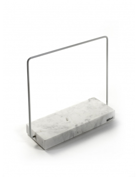 MARBLE TRAY CARRARA+ HANDLE 20x7,5xH1,8