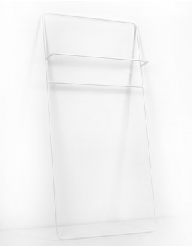 TOWEL RACK LOW 70X140 WHITE