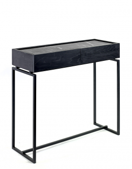 SIDE TABLE WITH DRAWER L BLACK DIALECT