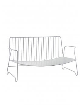 LOUNGE SOFA FISH & FISH 131X71 H72,5 STAAL WIT