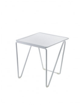 TABLE D'APPOINT NESTING SMALL 30x28 H32 ACIER BLANC