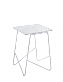 TABLE D'APPOINT FISH & FISH SMALL 30X30 H42 ALU BLANC