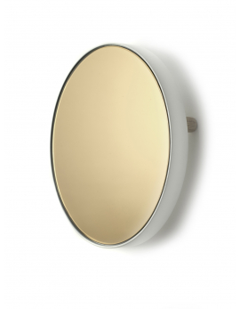 MIRROR TRAY ROUND STUDIO SIMPLE D31 H6 WHITE