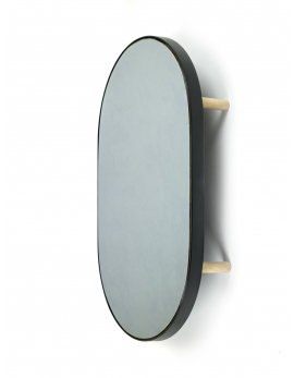 MIRROR TRAY OVAL STUDIO SIMPLE 67x41 H11 BLACK