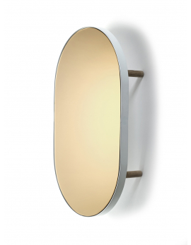 MIRROR TRAY OVAL STUDIO SIMPLE 67x41 H11 WHITE
