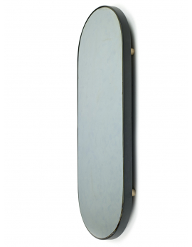 MIRROR TRAY OVAL L STUDIO SIMPLE 80x31 H6 BLACK