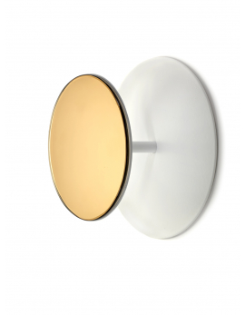 PORTE-MANTEAU MIROIR S STUDIO SIMPLE D25 H11 BLANC
