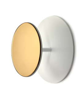 PORTE-MANTEAU MIROIR L STUDIO SIMPLE D30 H13 BLANC