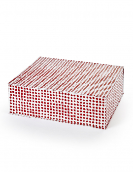 STORAGE BOX L RED MILIEUX DE VOS TABLES