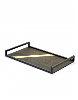 DECORATIVE TRAY BRASS INSERT CHARLES