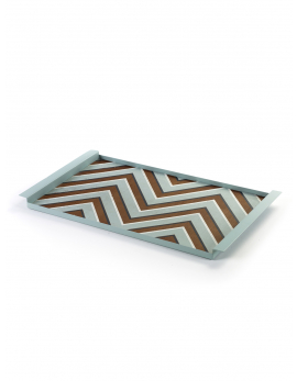 DECORATIVE TRAY ZIGZAG BLUE CHARLES