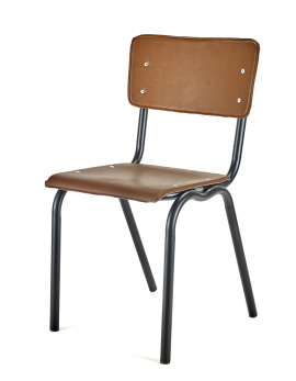 CHAIR BROWN SEAT + BLACK FRAME VINYL-VINYL