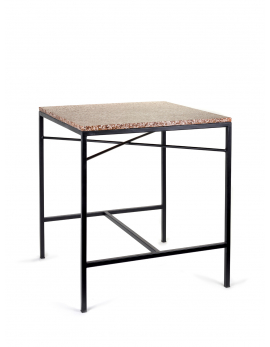 TABLE BROWN TERRAZZO