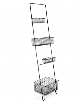 LADDER INCL 4 BASKETS ARMY GREEN