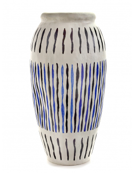 PAPER VASE L BLUE/WHITE MILIEUX DE VOS TABLES