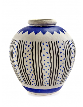 PAPER VASE M BLUE/WHITE MILIEUX DE VOS TABLES