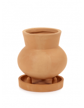 FLOWER POT WITH SAUCER