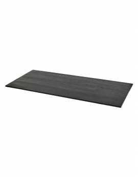 DESSUS D'UN TABLE STUDIO SIMPLE NOIR L 180X75 H2