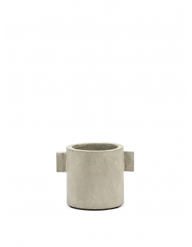 POT CONCRETE ROND NATUREL D13 H13