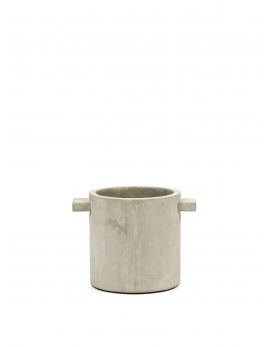 POT CONCRETE ROND NATUREL D15 H15