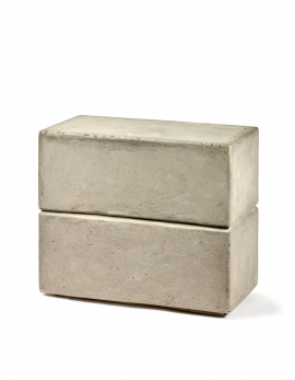 TABOURET RECTANGULAIRE BETON MARIE 50X25 H42