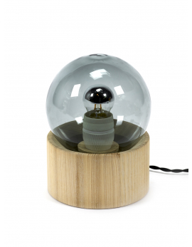 LAMPE DE TABLE GRIS FUME