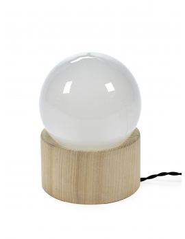 FULL MOON LAMP WHITE D14,5 H20