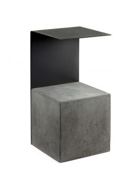 SIDE TABLE CONCRETE STEEL 32X30 H60
