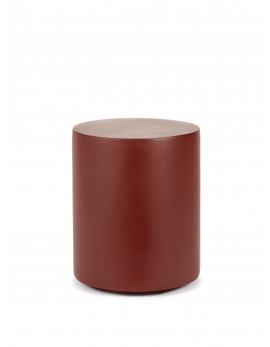 ROUND FIBER STOOL MARIE RED D30 H36,5