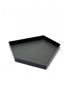 DECORATIVE TRAY METAL BLACK CHARLES