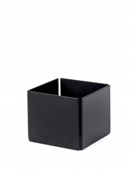 TEALIGHT METAL BLACK S 6X6 H5
