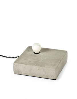 TABLE /WALL LAMP KVG NR. 02 - 02 1 BULB CONCRETE 20X20 H6
