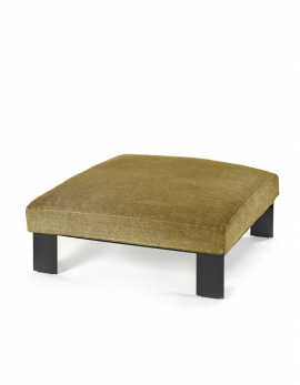 OTTOMAN INCL INDOOR CUSHION MUSTARD