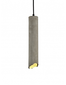 SUSPENSION BROQUAINE L6,5 x L6,5 x H45 CM BETON INCL AMPOULE