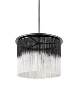 PENDANT LAMP WONG  BLACK/WHITE + EXTENSION