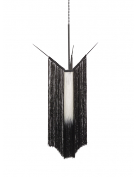 PENDANT LAMP CHAN 1 BLACK/WHITE