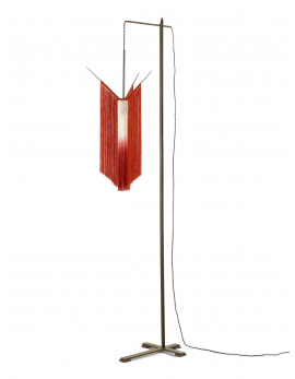 LAMPADAIRE CHAN 2  SCARLET/CREAM